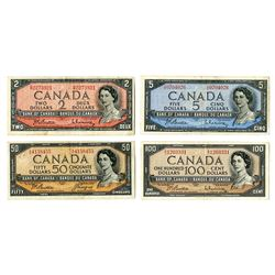 Bank of Canada, 1954 (1960s), Quartet of Issued Banknotes