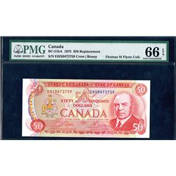 Bank of Canada, 1975, Gem Uncirculated Replacement Note
