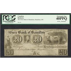 Gore Bank of Hamilton (Upper Canada), 18__, Remainder Note