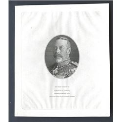 King George V ND ca.1923-25 Proof Vignette of King George V.