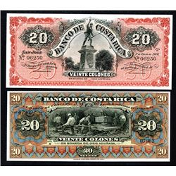 Banco de Costa Rica. 1901, 1906 Issues.
