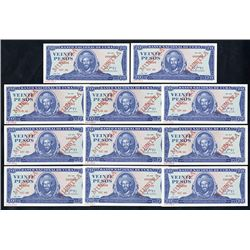 Banco Nacional de Cuba, 1988, Lot of 11 Specimens