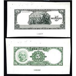 Banco Central de Reserva de El Salvador United States Banknote Corporation Roller and Plate Index Fi