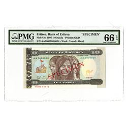 Bank of Eritrea, 1997, Specimen Banknote