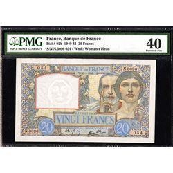Banque de France, 1940-41 Issue 20 Francs