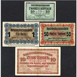Occupation of Lithuania. Ostbank fur Handel und Gewerbe; Darlehnskasse Ost. 1916 Issue.