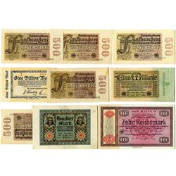 Reichsbank, 1920s-1930s, Group 9 of Banknotes