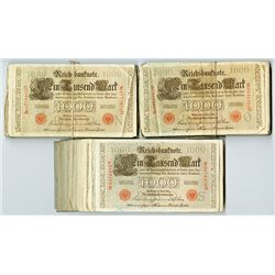 Reichsbanknote, 1910, Lot of 300 Imperial Bank Notes