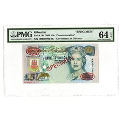 Government of Gibraltar, 2000, Specimen Banknote