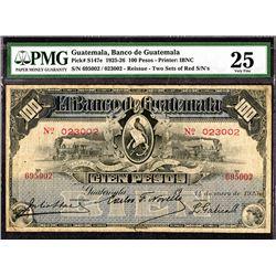 "Banco de Guatemala, 1925 ""Reissue""  Issue Banknote."