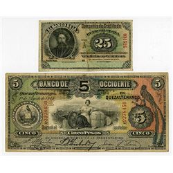 Various Issuers, 1880s-1914, Pair of Notes