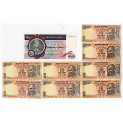 "Reserve Bank of India, 1996-99 ND Issue Solid Serial Numbers ""222222 - 999999""."