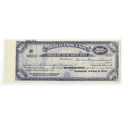 Thomas Cook & Son, ND, ca.1900-1920 Specimen Circular Note For Use in India.