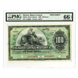 Banco Central Mexicano, ca.1908 Specimen Bono De Caja