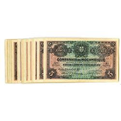 Companhia de Mocambique, Beira, 1934, Group of 34 Issued Notes