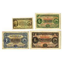 Banco Nacional Ultramarino, 1941-1944, Quartet of Banknotes