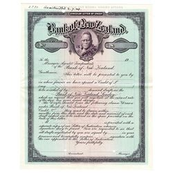 Bank of New Zealand, 1924, Specimen Circular Letter of Credit