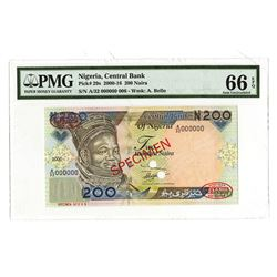 Central Bank of Nigeria, 2000-2016, Specimen Banknote