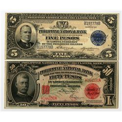 Philippine National Bank, 1920-1921, Issued Banknote Pair