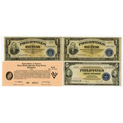 Treasury of the Philippines, 1942-1944, Quartet of Issued Notes