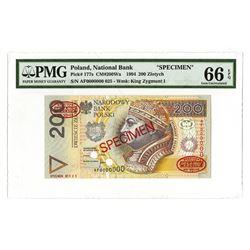 Narodowy Bank Polski, 1994, Specimen Banknote