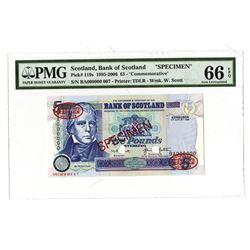 Bank of Scotland, 1995-2006, Specimen Banknote
