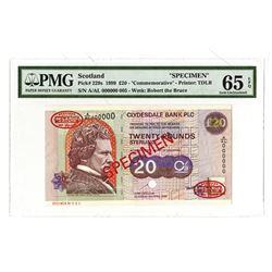 Clydesdale Bank, 1999, Specimen Banknote