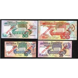 Central Bank of the Seychelles. 1989 ND Issue. Specimens.