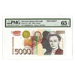 Banka Solvenije, 1997, Specimen Banknote