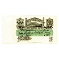 Montagu Bank, 1860's Private Banknote.