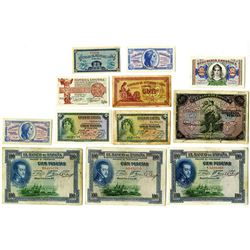 Banco de Espana and other issuers, 1906-1938, Issued Notes.
