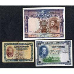 Banco de Espana. 1925-26 Issue.
