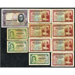 Banco de Espana. 1935-38 Issues.