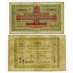 Government of the Straits Settlements. 1917 and 1919 Issue Pair.