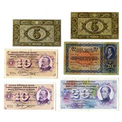 Banque Nationale Suisse. 1942-1965 Issues.