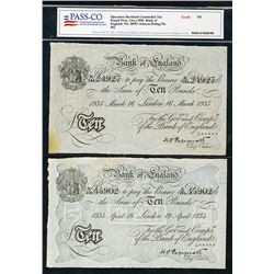 Bank of England, c. 1942, WWII era Operation Bernhard White Notes