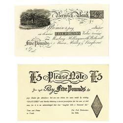 Berwick Bank, ND (ca. 181_), Proof Banknote