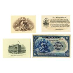 National Bank, 1920, Issued Banknote & Matching Progress Vignette