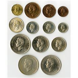 Great Britain: 1951, Set of 13 Proof and Uncirculated Coins