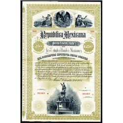 Republica Mexicana Deuda Consolidada de Los Estados Unidos Mexicanos, 1885 Specimen Bond