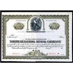 North Bullfrog Mining Company Specimen Shares. CA 1900.