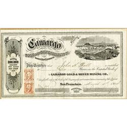 Camargo Gold and Silver Mining Co., 1864 Stock Certificate.