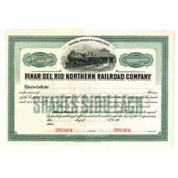 Pinar Del Rio Northern Railroad Co., ca.1900-1910 Specimen Stock