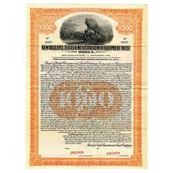 New Orleans, Texas & Mexico Railway Equipment Trust, 1925 Specimen Bond.