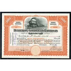Bullfrog Goldfield Railroad Co., 1914 Issued Stock Certificate.