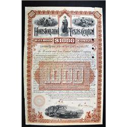 Houston & Texas Central Railroad Co. 1890 Bond.