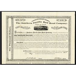 Southern Pacific Rail Road Co., 1869 7% Bond.