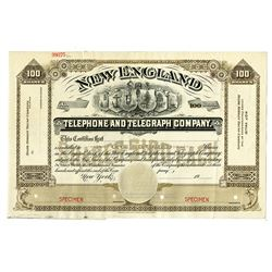 New England Telephone and Telegraph Co., ca.1900 Specimen Stock