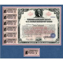 Third Liberty Loan Bond 4.25 % Gold Bond of 1928 Issue May 9, 1918.