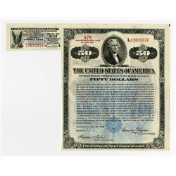 Victory Liberty Loan 4.75 % Gold Bond of 1922-1923 Issue May 20, 1919.